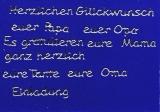 Sticker - Verschiedene Glückwünsche - silber - 445