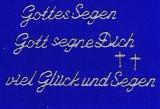 Sticker - Gottes Segen - silber - 482