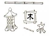 Sticker - Feng Shui - schwarz-gold - 920