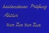 Sticker - Bestandenes Abitur/ Prüfung - gold - 486
