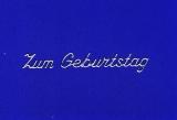 Sticker - Zum Geburtstag 3 - silber - 489