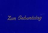 Sticker - Zum Geburtstag 3 - gold - 489