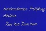 Sticker - Bestandenes Abitur/ Prüfung - silber - 486