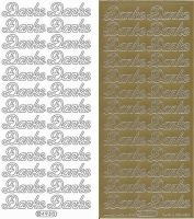 Sticker - Danke - gold - 493