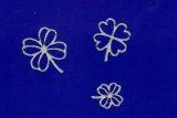 Sticker - Klee - silber - 102