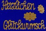 Sticker - Herzlichen Glückwunsch - 490 - gold