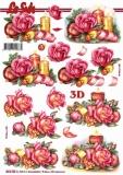 3D-Bogen Gesteck mit Kerze von Nouvelle (8215736)