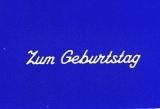 Sticker - Zum Geburtstag 3 - weiß - 489
