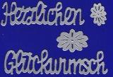 Sticker - Herzlichen Glückwunsch - silber - 490