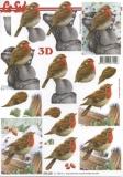 3D-Bogen Vögel im Schnee von LeSuh (777.139)