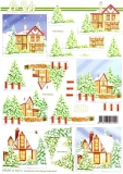 3D-Bogen Verschneites Haus von LeSuh (777.311)