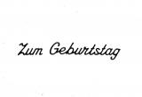 Sticker - Zum Geburtstag 3 - schwarz - 489