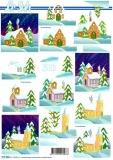 3D-Bogen Kirche im Schnee von LeSuh (777.326)