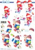 3D-Bogen Junge mit Schlitten von LeSuh (777.347)