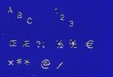 Sticker - Buchstaben und Zahlen - silber - 1000