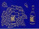 Sticker - Wein - gold - 1066
