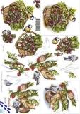 3D-Bogen Vögel im Winter von Nouvelle (8215160)