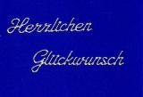 Sticker - Herzlichen Glückwunsch - silber - 4402