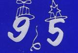 Sticker - Zahlen mit Hut - silber - 1203