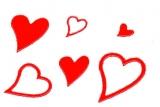 Sticker - Herzen - rot - 120
