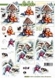 3D-Bogen Winterspaß von Nouvelle (8215625)