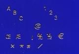 Sticker - Buchstaben und Zahlen - gold - 1000