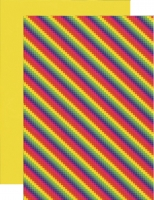 10x Bastelkarton A4 Karo-LineRegenbogen (KBS010)