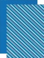 10x Bastelkarton A4 Karo-LineBlau (KBS004)