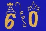 Sticker - Zahlen mit Hut - gold - 1203