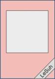 Passepartoutkarten-Set A6 babyrosa-quadratisch- von LeSuh (411208) ***AUSVERKAUF***