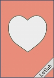 Passepartoutkarten-Set A6 lachs-Herz von LeSuh (411409)