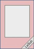 Passepartoutkarten-Set A6 hellrosa-rechteckig von LeSuh (411337)