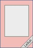 Passepartoutkarten-Set A6 babyrosa-rechteckig von LeSuh (411308)