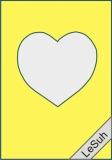 Passepartoutkarten-Set A6 zitrone-Herz von LeSuh (411404)
