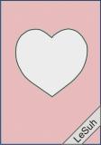 Passepartoutkarten-Set A6 hellrosa-Herz von LeSuh (411437)