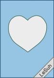 Passepartoutkarten-Set A6 babyblau-Herz von LeSuh (411415)