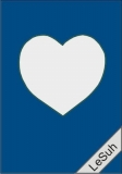Passepartoutkarten-Set A6 royalblau-Herz von LeSuh (411418)