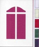 Passepartoutkarten-Set A6 weiß-Fenster 2 von LeSuh (412201)