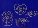 Sticker - Schachteln 2 - gold - 1051