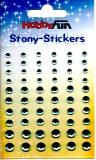 Stony-Stickers Acrylsteine rund, türkis in 3 Größen von Hobby Fun (3451753)