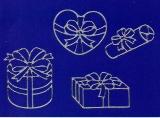 Sticker - Schachteln 2 - silber - 1051