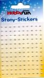 Stony-Stickers-Halbperlen 3 mm-creme von Hobby Fun (3451786)