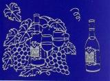 Sticker - Wein - silber - 1066