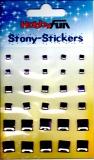 Stony-Stickers Acrylsteine quadratisch, lila, in 3Größen von Hobby Fun (3451757)