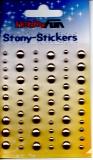 Stony-Stickers-Halbperlen champangner in 3 Größen von Hobby Fun (3451762)