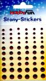 Stony-Stickers Acrylsteine rund, rot, in 3 Größen von Hobby Fun (3451752)