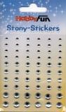 Stony-Stickers Acrylsteine rund, kristall, in 3 Größen von Hobby Fun (3451748)