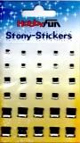 Stony-Stickers Acrylsteine quadratisch, kristall in 3Größenvon Hobby Fun (3451754)