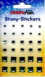 Stony-Stickers Acrylsteine quadratisch, grün, in 3Größenvon Hobby Fun (3451755)