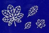 Sticker - Herbstlaub - silber - 917